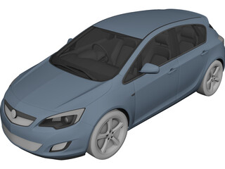 Opel Astra (2011) 3D Model 3D Preview