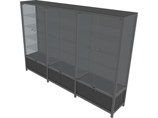 Glass Cabinet 3D Model