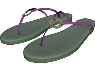 Ring Sandals 3D Model 3D Preview