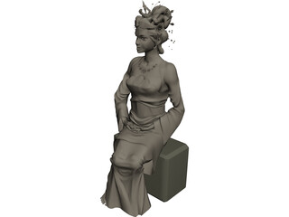 Women Chinese 3D Model 3D Preview