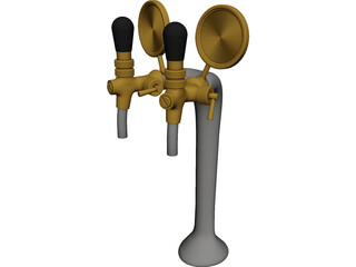 Bar Beer Tap 3D Model 3D Preview