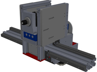 CNC Gantry Router Holder and Movement Construction CAD 3D Model