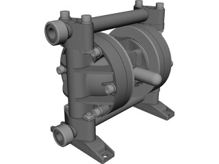 Polypropylene Diaphragm Pump CAD 3D Model