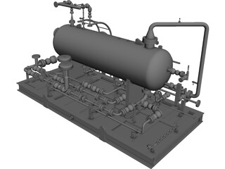 Test Separotor Skid 3D Model