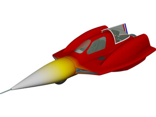 Turbo Sonic Concept 3D Model 3D Preview