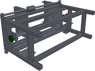 PVC Loading and Packing Machine CAD 3D Model