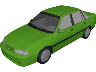Daewoo Racer GTi 3D Model 3D Preview