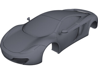McLaren MP4-12C Body CAD 3D Model
