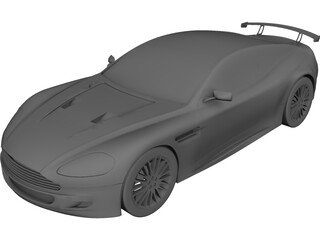 Aston Martin DB9 CAD 3D Model