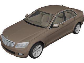Mercedes-Benz C-Class (2008) 3D Model