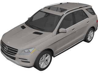Mercedes-Benz M-Class (2012) 3D Model