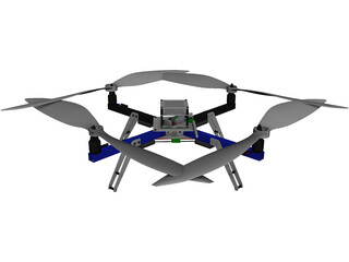 Arducopter Quadcopter CAD 3D Model
