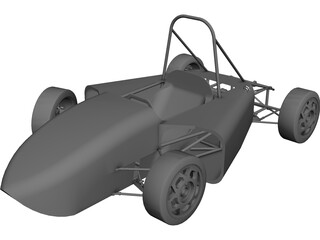 Formula SAE Prototype Car CAD 3D Model