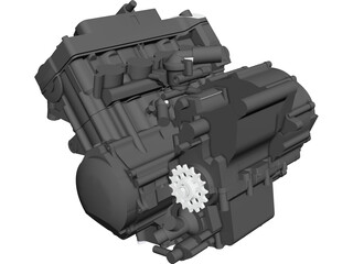 Honda CBR600RR Engine CAD 3D Model