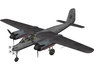 Focke-Wulf TA154 Night Fighter 3D Model