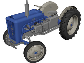 Ford Tractor CAD 3D Model