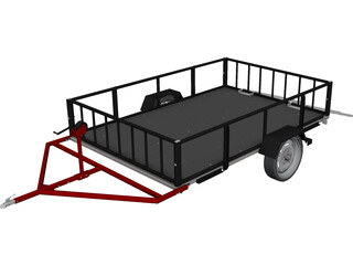 Multi-Purpose Trailer CAD 3D Model