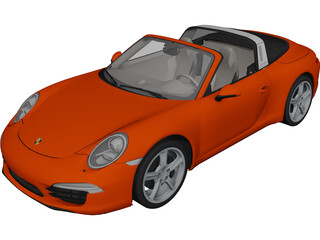 Porsche 911 Targa 4 (2015) 3D Model 3D Preview