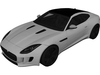 Jaguar F-Type Coupe (2014) 3D Model