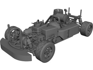 Camaro Nitro RS4 RC Car CAD 3D Model