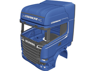 Scania R730 3D Model 3D Preview