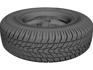 Mazda Miata MX-5 Wheel and Tire CAD 3D Model
