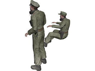 German Tank Crew of WW2 3D Model