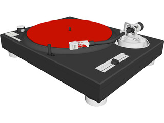 Turntable Technics MK2 1200 3D Model
