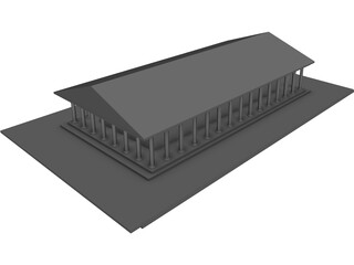 Partenon Temple Athens 3D Model