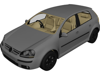 Volkswagen Golf (2011) 3D Model