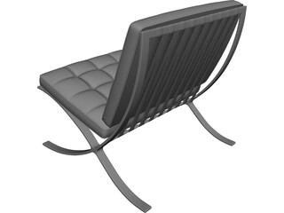 Barcelona Chair CAD 3D Model