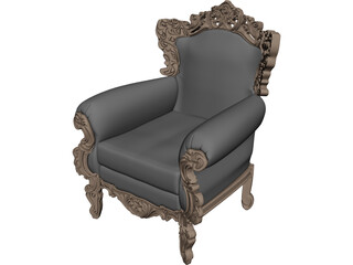 Neo Classical Armchair 3D Model