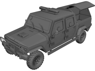 Jeep Agrale C.I.T (Cash in Transit) 3D Model 3D Preview