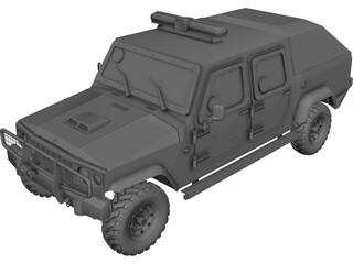 Jeep Agrale BP Canopy 3D Model