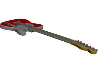 Guitar Electric 3D Model