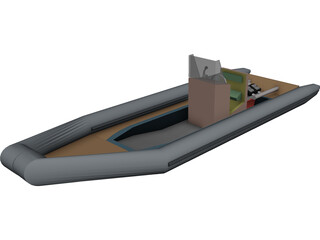Rigid Inflatable Boat [RIB] 3D Model