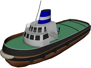 Harbour Tug 3D Model