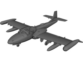 Cessna A37 Dragonfly 3D Model 3D Preview