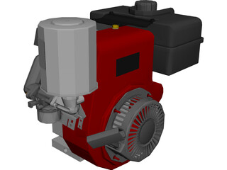 Engine Tecumseh 4-Stoke 3D Model