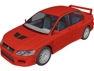 Mitsubishi Lancer Evolution VII 3D Model