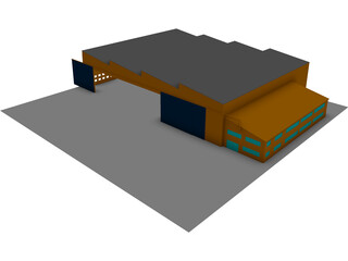 Aircraft Facility 3D Model