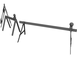 Construction Sawhorses 3D Model