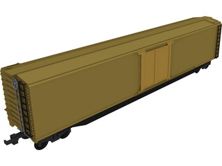 Cattle Train Section 3D Model