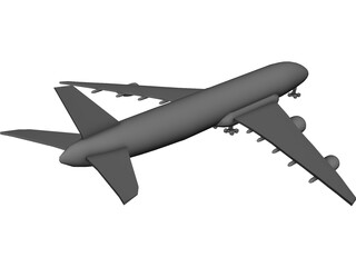 Boeing 744 Qantas 3D Model 3D Preview