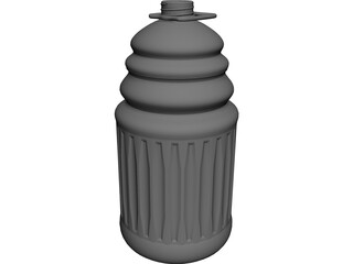 Bottle 128oz 3D Model