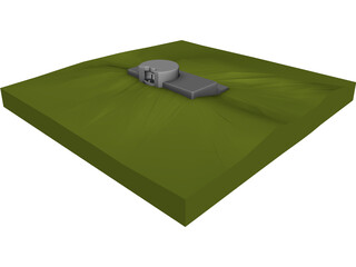 German WW II Bunker Normandie 3D Model