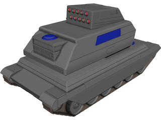 Hunter Support Tank 3D Model