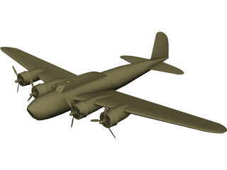 Boeing B-17D Flying Fortress 3D Model