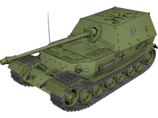 SAU Ferdinand 3D Model 3D Preview