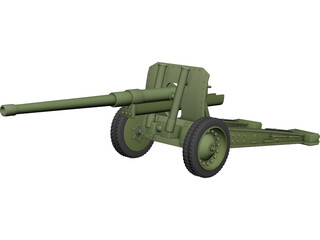 Cannon (122mm) 3D Model
